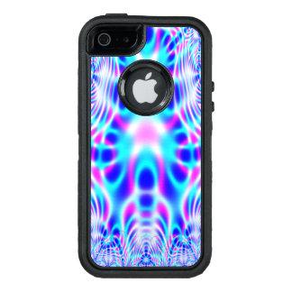 Extracto rosado y azul de neón de Rocket Funda OtterBox Defender Para iPhone 5