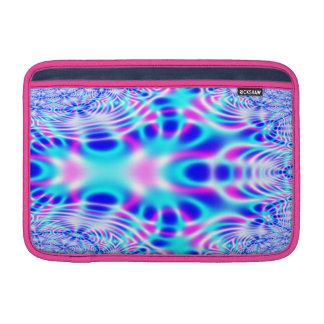 Extracto rosado y azul de neón del fractal