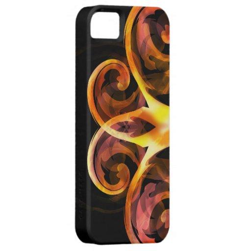 Extracto rosado y negro amarillo iPhone 5 fundas