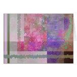 Extracto rosado y púrpura de la amapola tarjeta de felicitación