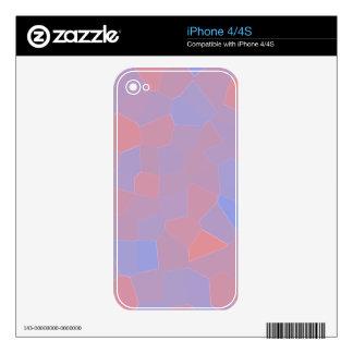 Extracto rosado y púrpura del mosaico calcomanías para iPhone 4