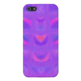 Extracto rosado y púrpura femenino iPhone 5 carcasas