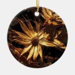Extracto secado de la flor ornamento para arbol de navidad