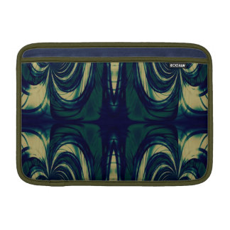 Extracto sedoso - azul marino, beige, y verde fundas para macbook air