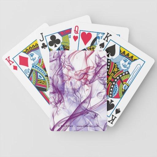 Extracto sedoso cartas de juego