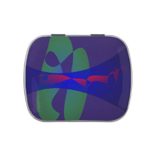 Extracto simple púrpura y azul oscuro latas de dulces