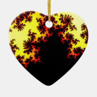 Extracto solar de la tormenta adorno de cerámica en forma de corazón
