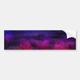 Extracto soñador colorido etiqueta de parachoque