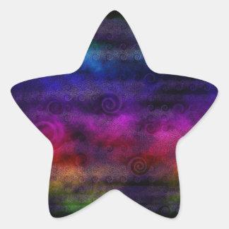 Extracto soñador colorido pegatina en forma de estrella