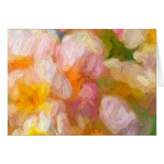 Extracto suave de la flor tarjeta de felicitación