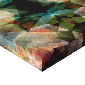 Extracto texturizado geométrico impresión en lienzo