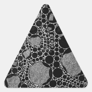 Extracto texturizado negro de plata pegatina triangular