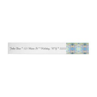 Extracto tribal en azul etiquetas postales