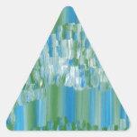 Extracto verde/azul calcomanías de trianguladas