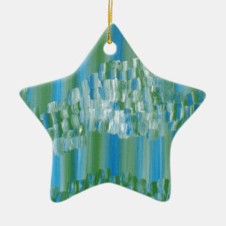 Extracto verde azul adorno