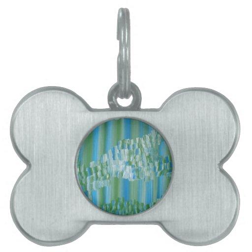 Extracto verde/azul placas de mascota