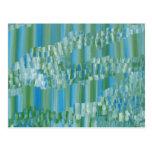 Extracto verde/azul tarjetas postales