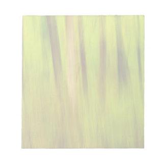 Extracto verde claro del verano bloc de notas