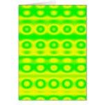 Extracto verde de neón del círculo tarjetón