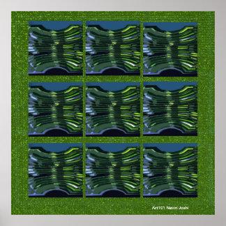Extracto verde - decoraciones del exterior del int poster