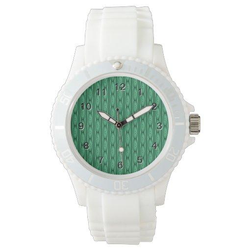 Extracto verde del modelo de la raya relojes