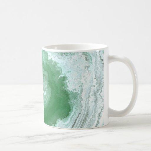 Extracto verde del remolino de la ágata tazas de café