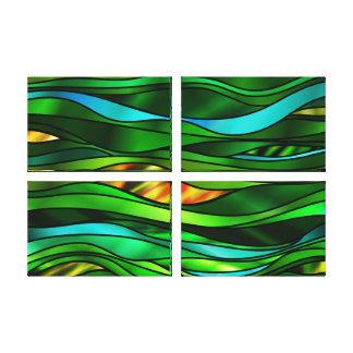 Extracto verde del vitral lienzo envuelto para galerias