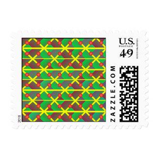 Extracto verde geométrico sello postal
