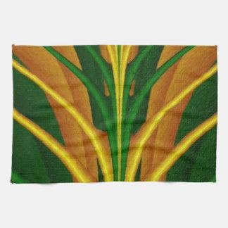 Extracto, verde natural/árbol de la fantasía del toalla de mano