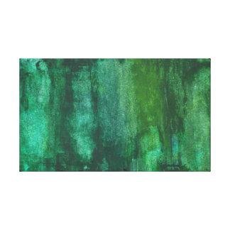 Extracto verde oscuro de la acuarela impresiones de lienzo