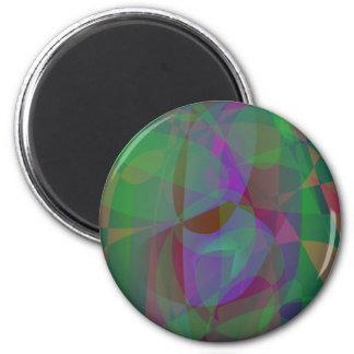 Extracto verde oscuro de las capas translúcidas imán de frigorifico