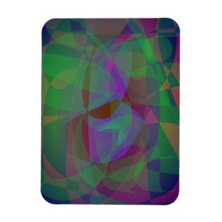Extracto verde oscuro de las capas translúcidas iman flexible
