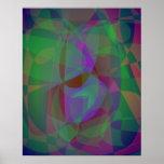 Extracto verde oscuro de las capas translúcidas posters