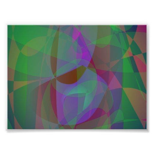 Extracto verde oscuro de las capas translúcidas arte fotografico