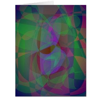Extracto verde oscuro de las capas translúcidas tarjeton