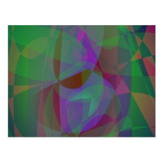 Extracto verde oscuro de las capas translúcidas postal