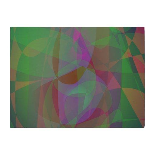 Extracto verde oscuro de las capas translúcidas cuadro de madera