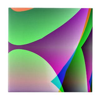 Extracto verde púrpura anaranjado azulejo cuadrado pequeño