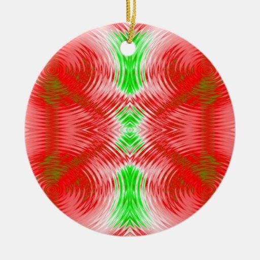 extracto verde rojo adorno navideño redondo de cerámica