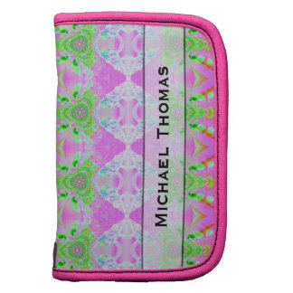 Extracto verde rosado bonito personalizado planificador