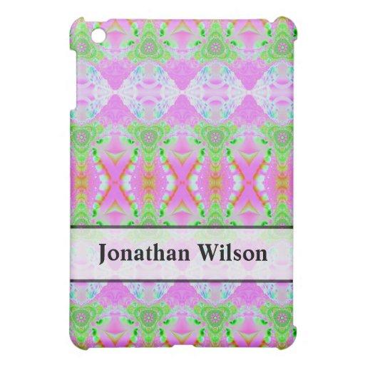Extracto verde rosado bonito personalizado iPad mini carcasa