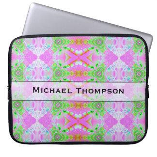 Extracto verde rosado bonito personalizado fundas ordendadores