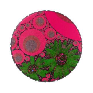 Extracto verde rosado magnífico de la flor jarrones de caramelos