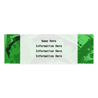 Extracto verde plantillas de tarjeta de negocio