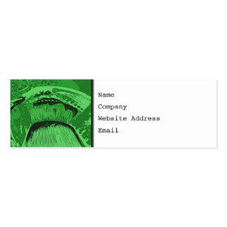 Extracto verde tarjeta de visita