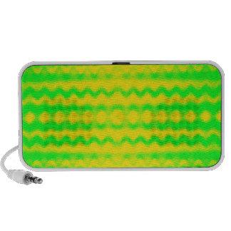 Extracto verde y amarillo altavoz de viaje