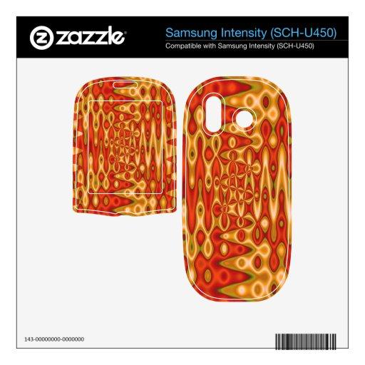 extracto vibrante del amarillo anaranjado samsung intensity II skin