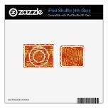 extracto vibrante del amarillo anaranjado iPod shuffle calcomanía