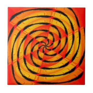 Extracto vibrante del tigerlike azulejo cuadrado pequeño