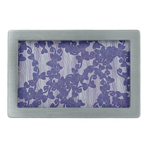 extracto violeta del papel pintado hebillas cinturon rectangulares